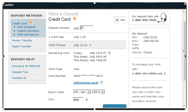 Depositing Bovada Checks