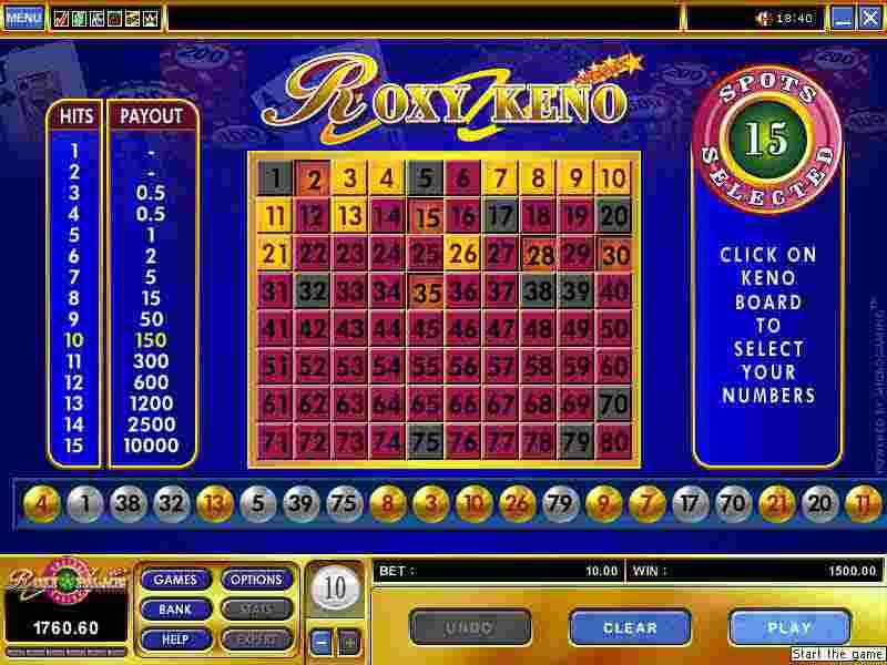 Casino keno only casino slots bonus