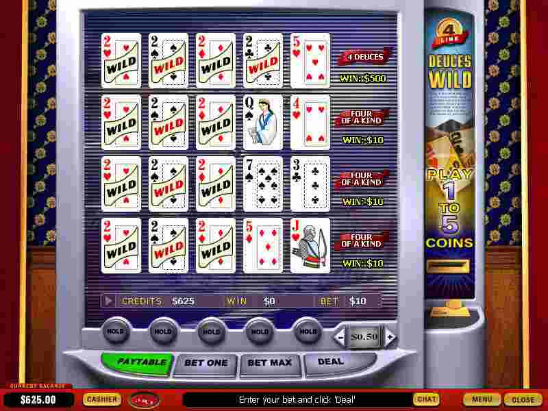 4x Deuces Wild Video Poker