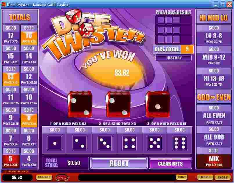 Play Dice Twister Arcade Games Online at Casino.com Australia